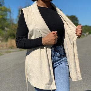 Juicy Couture Suede Sleeveless Vest